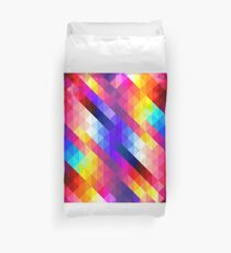 Abstract Diamond Graphic Pattern Duvet Cover