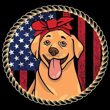 Labrador Dog USA Flag Design by kudostees