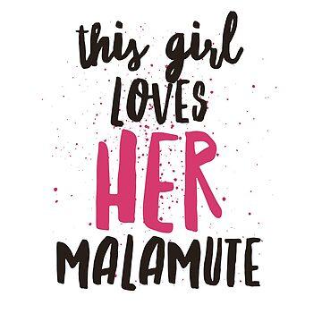 Malamute girl  by Amisdelamer