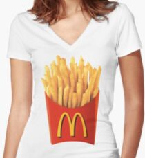 Your favorite fries Women's Fitted V-Neck T-Shirt
