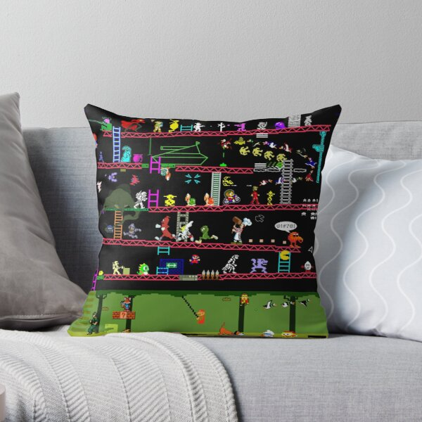 50 Video Game Classics Throw Pillow