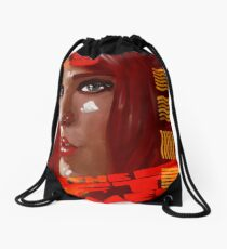 A digital painting for the movie fifth element  Drawstring Bag