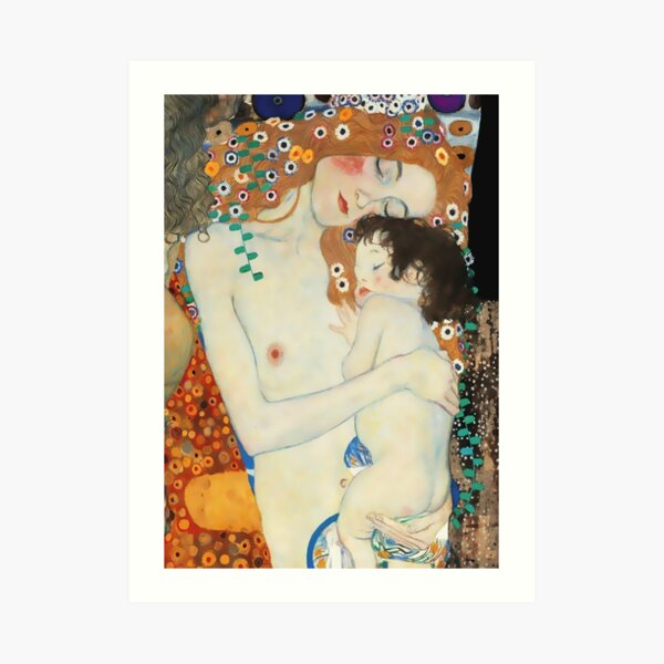 "Gustav Klimt Artwork ""Mother and Child""  Art Print"