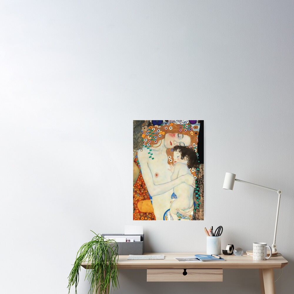 "Gustav Klimt Artwork ""Mother and Child""  Poster"