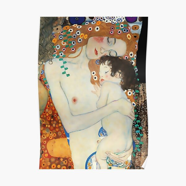 "Gustav Klimt Œuvre d'art ""Mother and Child"" Poster"
