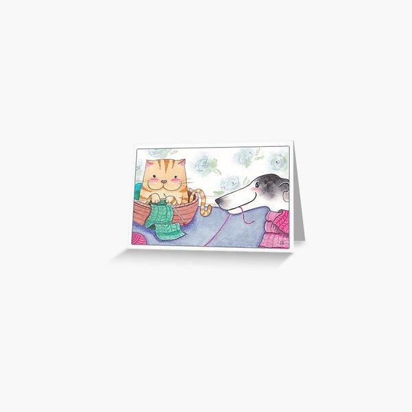 Keeping Friends Warm Greeting Card