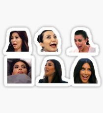 Kim K Faces Sticker