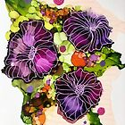 Port Wine Florals by Melanie Froud