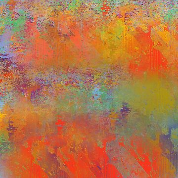 Fiesty Orange Abstract, Abstract Design, Southwestern by Jessielee72
