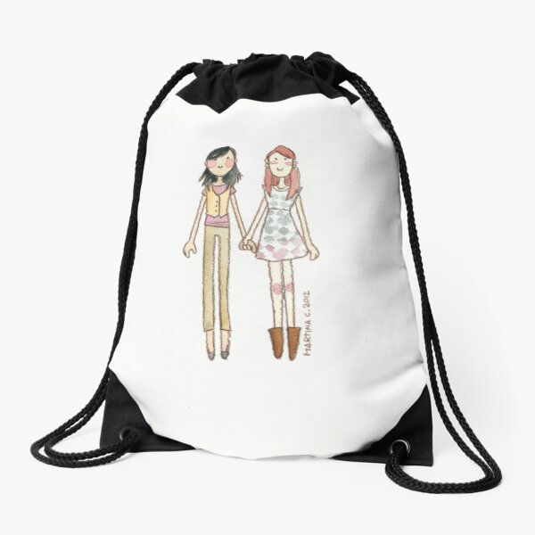 Lizzie Bennet Diaries - Charlotte and Lizzie Drawstring Bag
