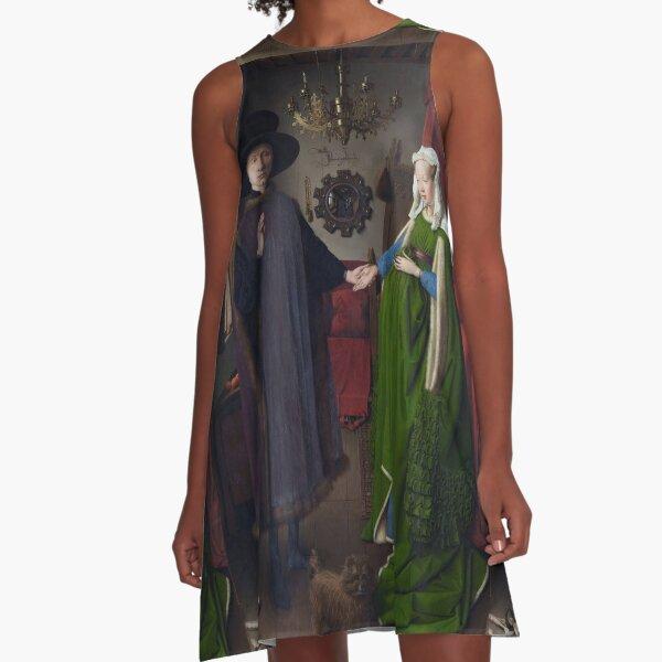 Arnolfini Portrait - Jan van Eyck A-Line Dress