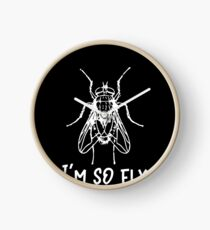 Insect I'm So Fly Funny Bug Lover Clock