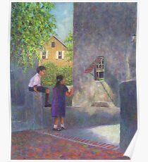 Girl Reading Letter Poster