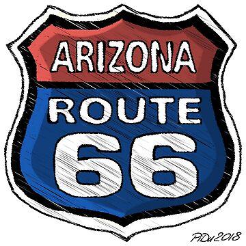 Route 66 Arizona by cartoonblog