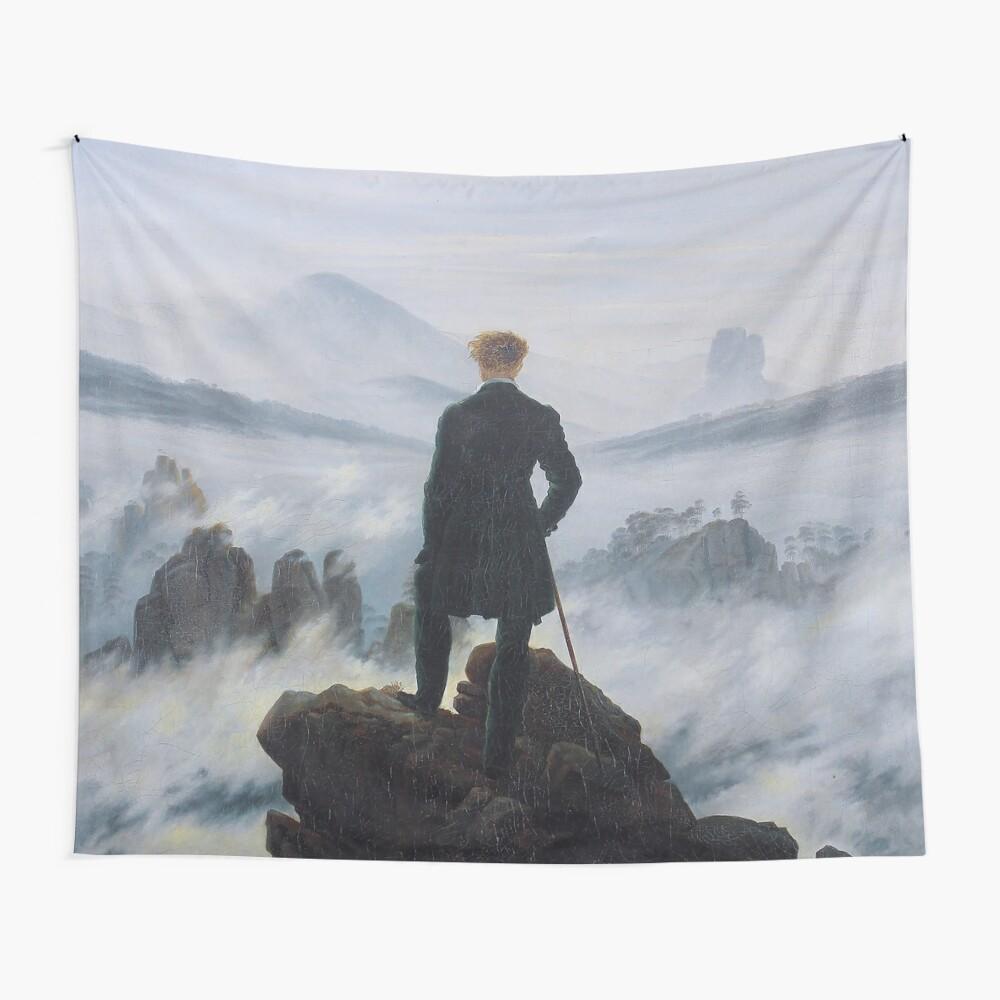 Wanderer über dem Nebelmeer - Caspar David Friedrich Wandbehang