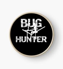Insect Bug Hunter Collecting Bugs Clock