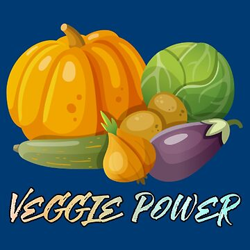 veggie power funny food vegetable by untagged-shop