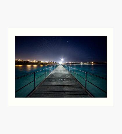 Port Noarlunga Jetty - After Dark Art Print