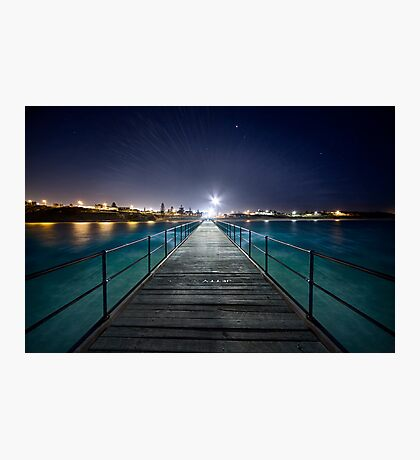 Port Noarlunga Jetty - After Dark Photographic Print