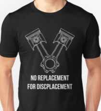 Piston 'V' Arrangement Decal (Black) Unisex T-Shirt