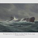 Kriegsmarine Unterseeboot in a Stormy Sea by edsimoneit