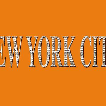 New York City (type in type on orange) by RayW
