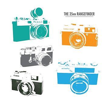 Vintage rangefinder cameras by opul