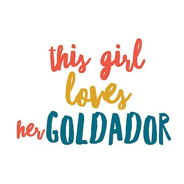 This girl loves her goldador by CharlyB