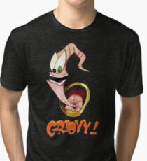 Earthworm Jim, Groovy! Tri-blend T-Shirt