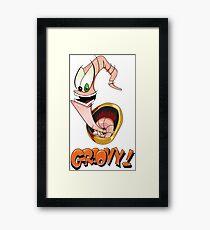 Earthworm Jim, Groovy! Framed Print