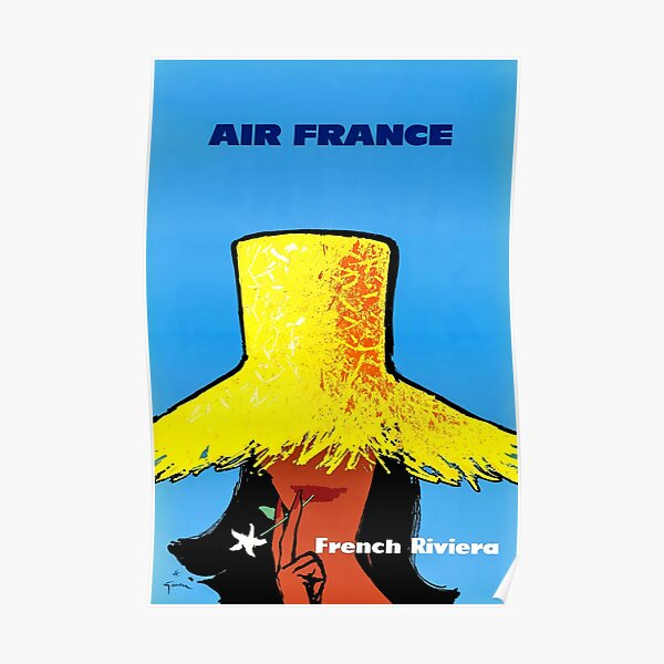 Vintage French Riviera POster Poster