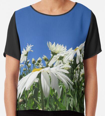 zauberhafte Blumenwiese, Blüten, Blumen, Sommer, Sonne, Natur Chiffontop für Frauen