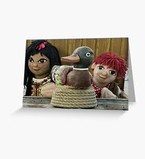 Rosie und Jim Grußkarte