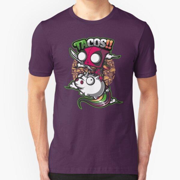 tacos and unicorns  Slim Fit T-Shirt