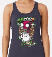 Camiseta con espalda nadadora tacos y unicornios