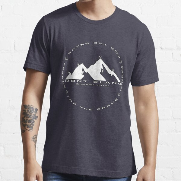 Le Mont Blanc Chamonix Valley Essential T-Shirt