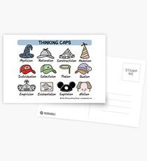 thinking caps Postcards