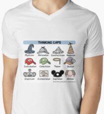 thinking caps V-Neck T-Shirt