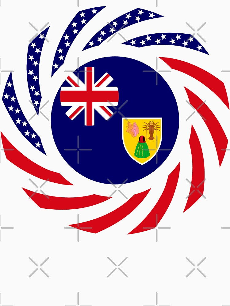Turks & Caicos Islander American Multinational Patriot Flag Series by carbonfibreme