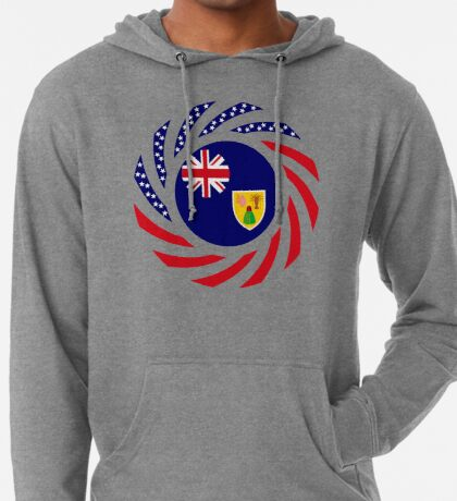 Turks & Caicos Islander American Multinational Patriot Flag Series Lightweight Hoodie
