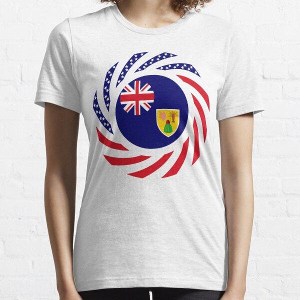 Turks & Caicos Islander American Multinational Patriot Flag Series Essential T-Shirt
