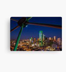 Dallas Skyline bei Nacht Leinwanddruck