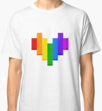 SUPER RAINBOW PIXEL HEART! Classic T-Shirt