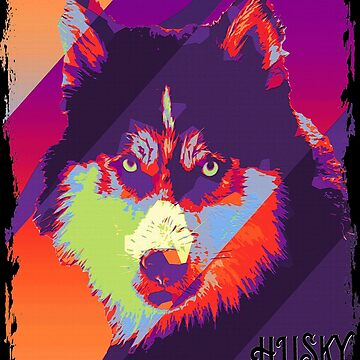 Husky Dog Siberian Husky Modern Art Color Graphic by thespottydogg