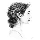 Eleanor Tomlinson pencil portrait by wu-wei