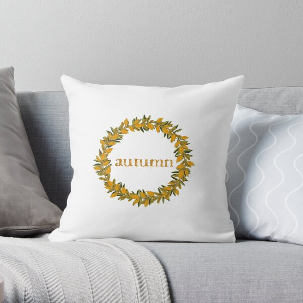 Autumn Fall  Wreath Throw Pillow