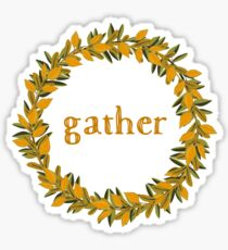 Gather Fall Autumn Wreath Sticker