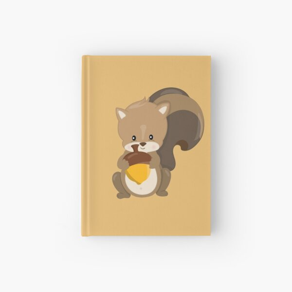 Little Squirrel With Nut Hardcover Journal