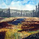 Oregon Santiam Pass Summit Watercolor Painting by Chriss Pagani