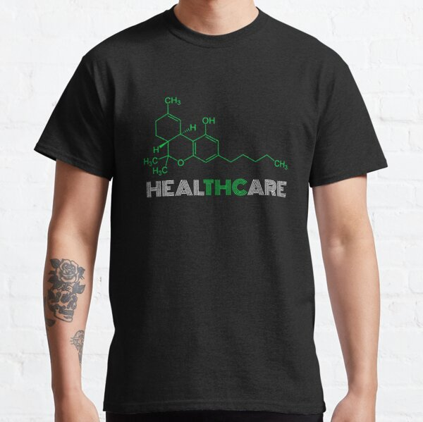 THC Molecule for Legalize Healthcare Cannabis Medical Marijuana Classic T-Shirt